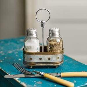 Two-Tone Salt and Pepper Caddy - Box of 2 - Countryside Home Decor