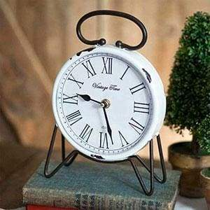 Vintage Time Tabletop Clock - Countryside Home Decor