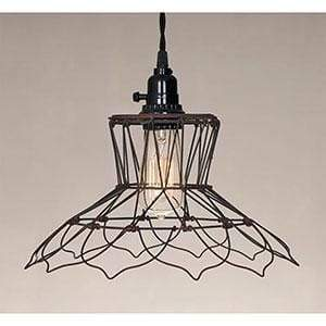 Vintage Wire Pendant Lamp - Countryside Home Decor