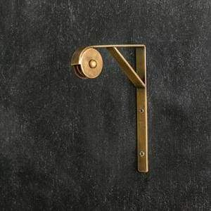 Wall Mount Pulley Antique Brass Box Of 2 Countryside Home Decor