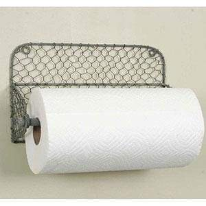 Wall Paper Towel Holder with Chicken Wire - Countryside Home Decor
