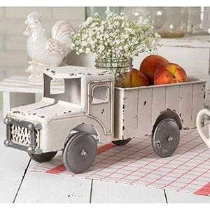White Truck Planter - Countryside Home Decor