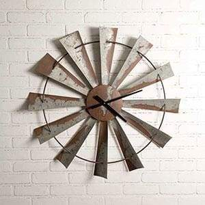 Windmill Wall Clock - Countryside Home Decor