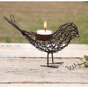 Wire Bird Tea Light Holder - Box of 4 - Countryside Home Decor