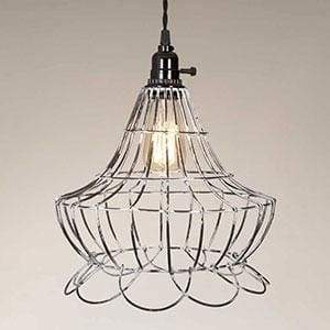Wire Scallop Bell Pendant Lamp - Countryside Home Decor