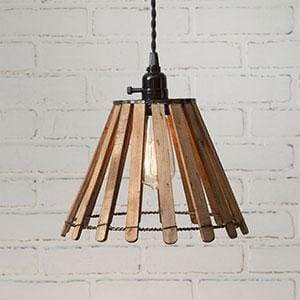 Wood Slat Pendant Light - Countryside Home Decor