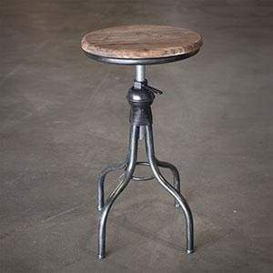 Wooden Top Stool - Countryside Home Decor