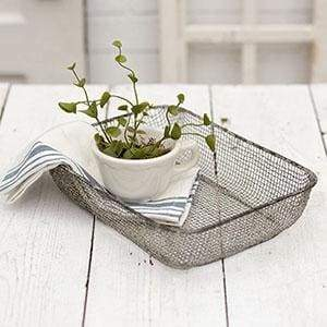 Woven Wire Table Basket - Box of 2 - Countryside Home Decor
