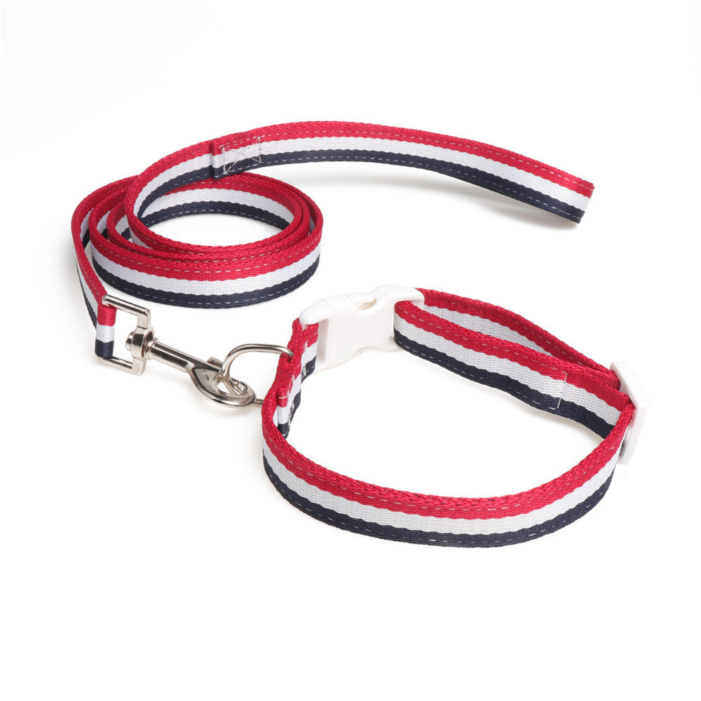 Gucci / Tommy Collar & Leash (M)