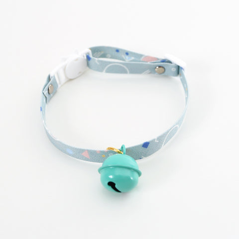 Pastel big bell cat safety collar