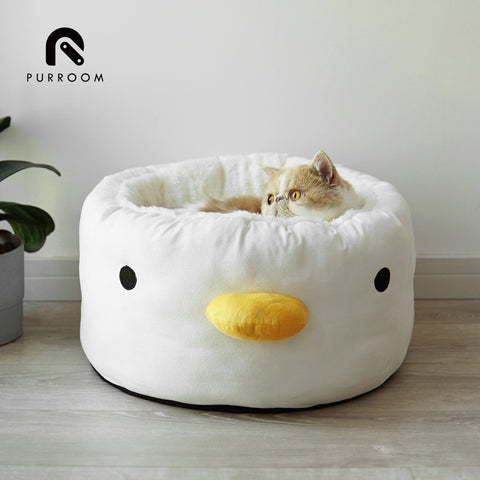 Purroom duck set (Bed, food bowl, water bowl, mug)