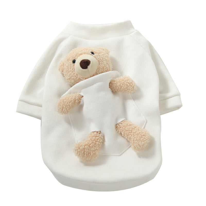 Sweater with pocket bear
