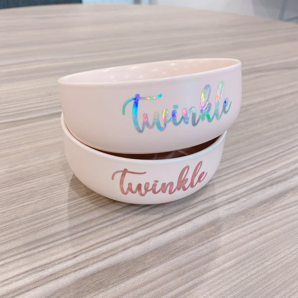 Pink small ceramic bowl (Personalised name)