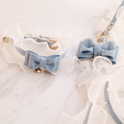 lace collar & leash
