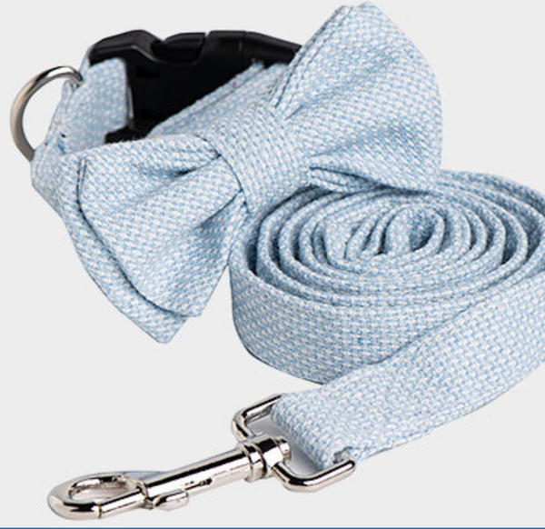Cotton fashion Bow collar & Leash set