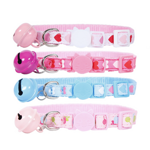 Cute Hearts Cat safety Collar (XS-S)