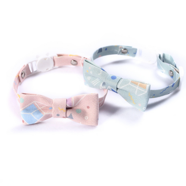 Pastel Bow & Tie Cat Safety Collar (XS-S)