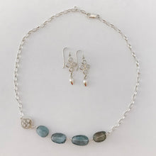Load image into Gallery viewer, Moss Aquamarine Silver Chunky