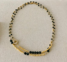 Load image into Gallery viewer, Black Onyx and Pyrite Necklace