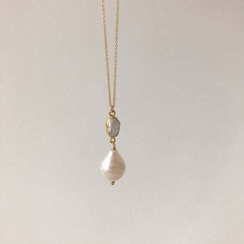 Baroque Pearl Gold Necklace