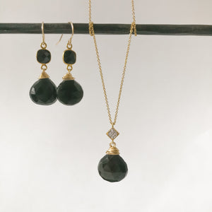 Black Obsidian Gold Necklace
