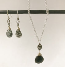 Load image into Gallery viewer, Black Obsidian Sterling Necklace