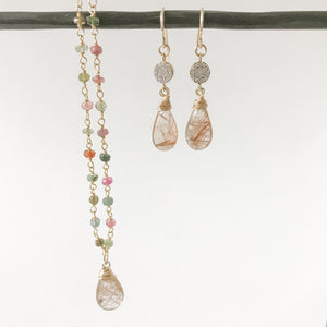 Tourmaline with Rutilated Quartz Necklace