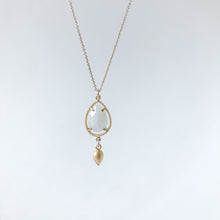 Load image into Gallery viewer, Moonstone Teardrop and Gold Necklace