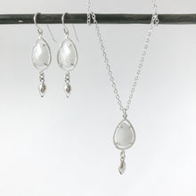 Load image into Gallery viewer, Moonstone Teardrop Sterling Necklace
