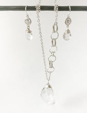 Load image into Gallery viewer, Large Rock Crystal and Sterling Necklace