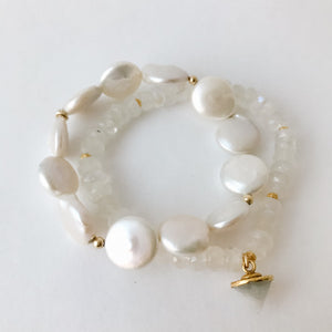 Moonstone and Gold Bracelet
