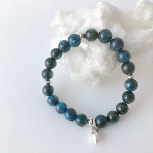 Kyanite Blue with Sterling Bracelet
