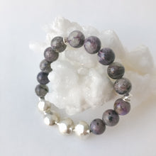 Load image into Gallery viewer, Charoite and Sterling Bracelet