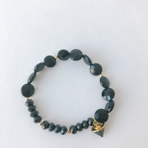 Black Onyx and Gold Bracelet