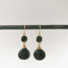 Load image into Gallery viewer, Black Obsidian and Gold Earring