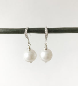 Pearls and Sterling Earring