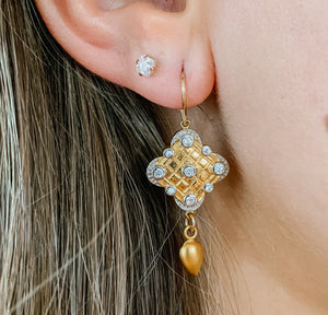 Persian Gold Earring - Sterling Option