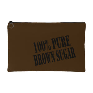 100% Pure Brown Sugar | Small Cosmetic Bag or Large Clutch-Accessory Pouches-Swagtastic Gear