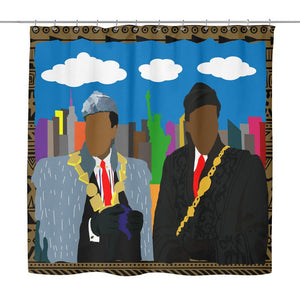 African Kings in NYC | Shower Curtain-Shower Curtains-Swagtastic Gear