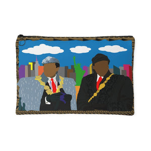 African Kings in NYC | Small Cosmetic Bag or Large Clutch - BLACK-Accessory Pouches-Swagtastic Gear