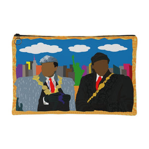 African Kings in NYC | Small Cosmetic Bag or Large Clutch - TAN-Accessory Pouches-Swagtastic Gear