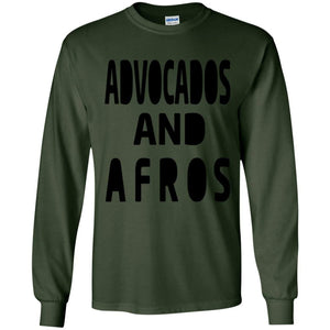 Avocados and Afros | Long Sleeve Tee-Apparel-Swagtastic Gear