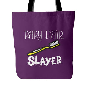 Baby Hair SLAYER | Tote Bag-Tote Bags-Swagtastic Gear