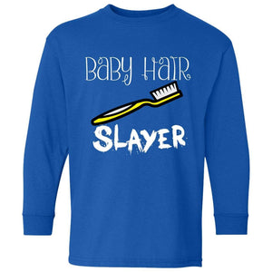 Baby Hair Slayer | Youth Long Sleeve Tee-Apparel-Swagtastic Gear
