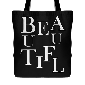 BEAUTIFUL | Tote Bag-Tote Bags-Swagtastic Gear