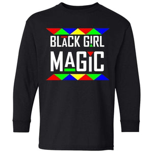 Black Girl Magic | Youth Long Sleeve Tee-T-Shirts-Swagtastic Gear