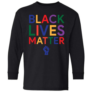 BLACK LIVES MATTER | Youth Long Sleeve Tee-T-Shirts-Swagtastic Gear