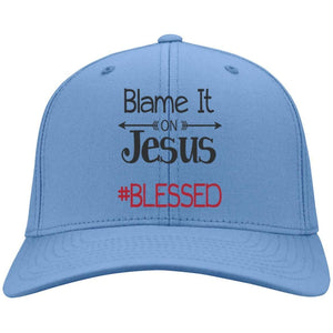 Blame it on Jesus #blessed | Twill Cap-Hats-Swagtastic Gear