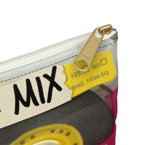 Clearly Old School Music Mixtape | Small Cosmetic Bag or Large Clutch-Bags-Swagtastic Gear