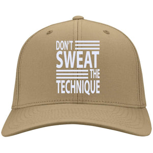 Don't SWEAT the Technique | Twill Cap-Apparel-Swagtastic Gear